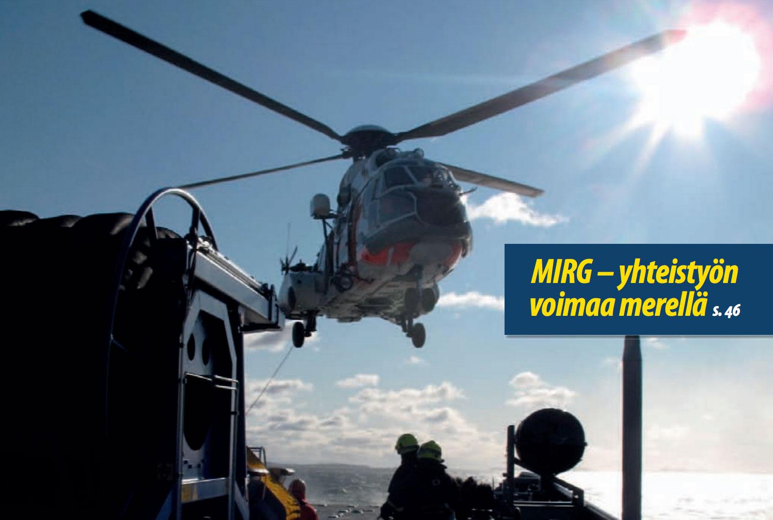 Merellä tapahtuvaa virnomaisten yhteistä pelastustoimintaa tehostetaan. Kuva: Toni Fohlin.