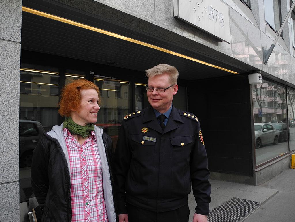 Kati Heiskanen ja Mikko Särmä tuntevat standardisoinnin kiemurat.