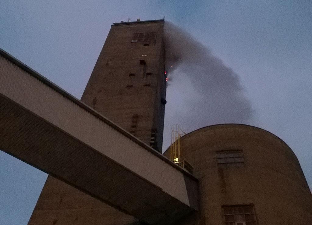 Palo oli tornin huipulla.