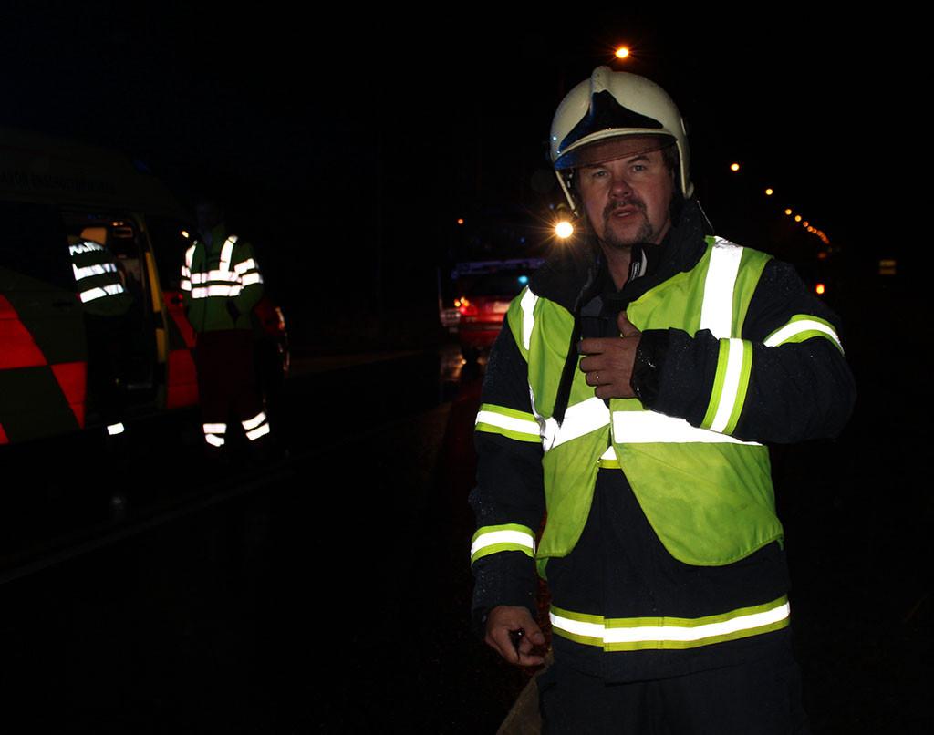 Jarmo Korhonen toimii yksikönjohtajana Rautavaaran palokunnassa.