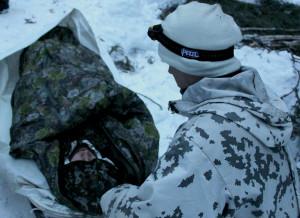 Kylmäpelastamista harjoiteltiin Sodankylässä.
