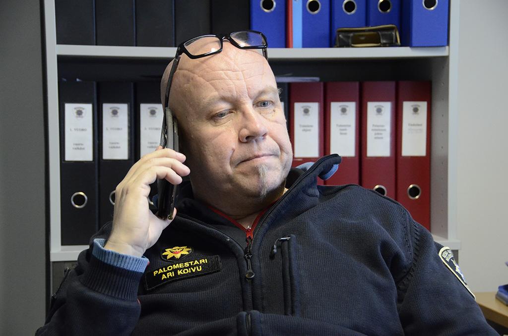 Keski-Uudenmaan pelastuslaitoksen palomestari Ari Koivu.