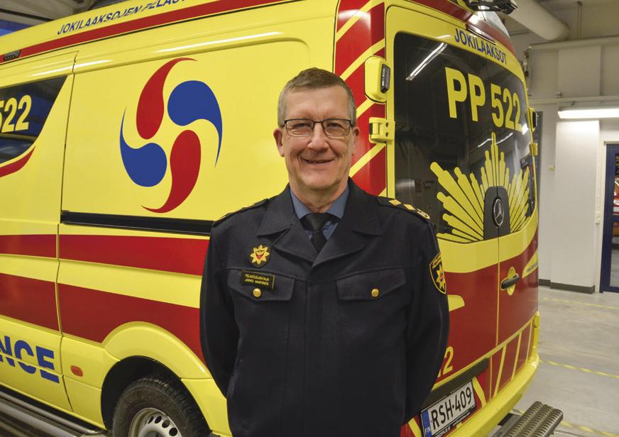 Jokilaaksojen pelastuslaitoksen pelastusjohtaja Jarmo Haapanen toivoo kumppanuusverkoston kehittyvän entistä paremmaksi yhteistyöalustaksi pelastuslaitoksille.