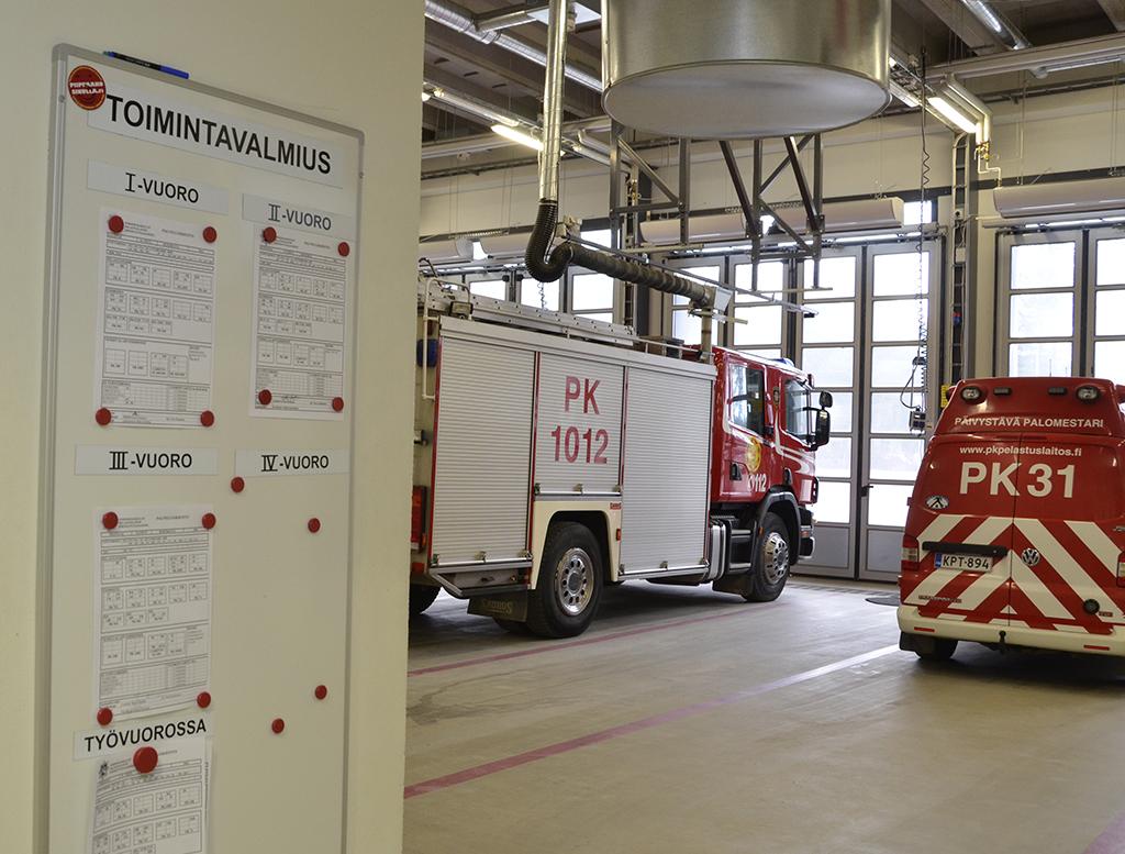 Ainoastaan Joensuun paloaseman palomiehet jatkavat entisessä vuorokausirytmissä.