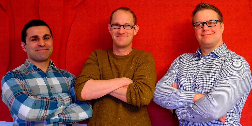 Shimal Yousif (vas.), Niki Haake ja Valtteri Väyrynen kertovat Pelastustieto-blogissa julkaistavissa kirjoituksissa, millaista on vaihtaa vieraille vesille. Kuva: Pauliina Pensikkala