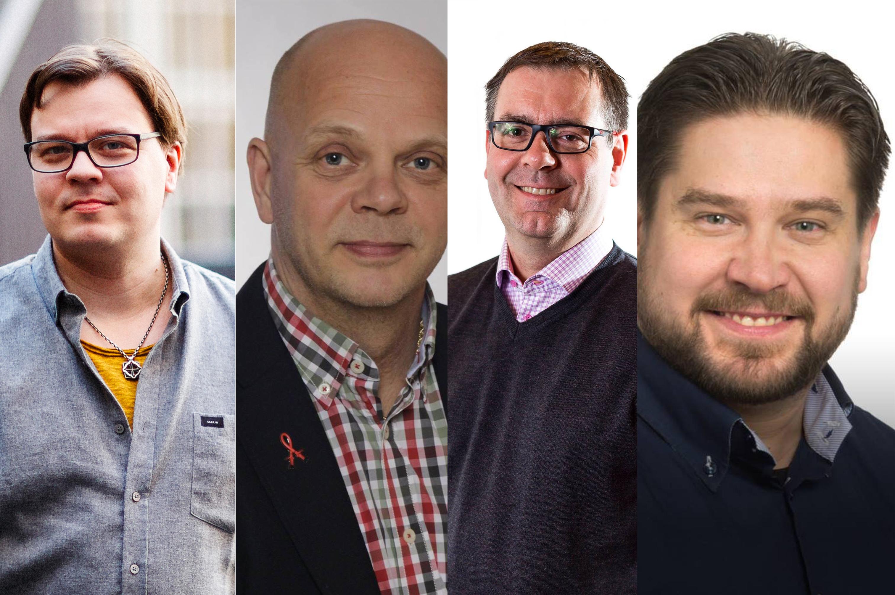 Muiden muassa Erik Lydén, Ilkka Mustakangas, Sami Suojanen ja Jarno Joensuu ovat ehdolla kuntavaaleissa.