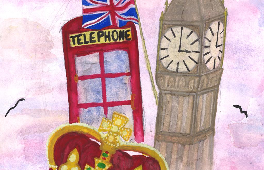 Lontoo teki Jareen vaikutuksen. (Kuvitus: Veera Moilanen)