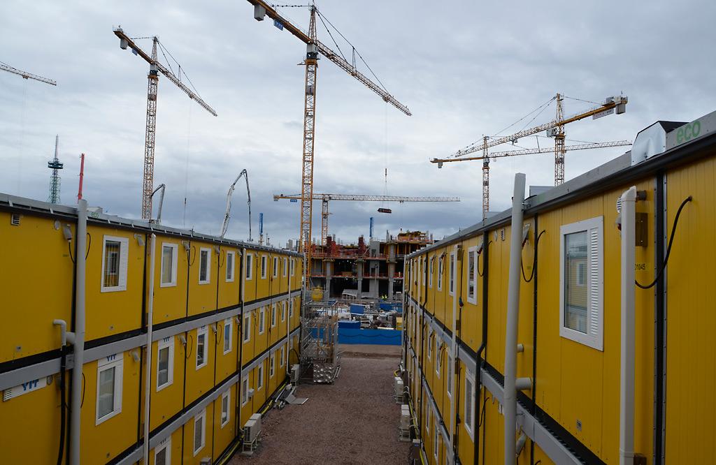 Pasilan Triplan rakennustyömaata vuonna 2017.