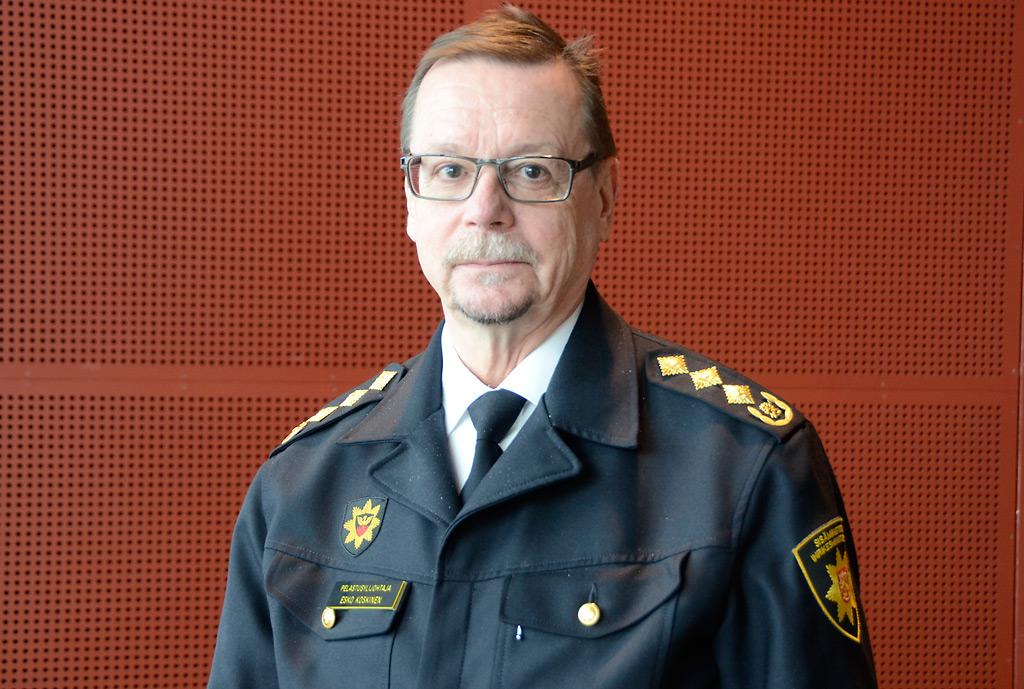 Pelastusylijohtaja Esko Koskinen jää eläkkeelle lokakuun alussa.