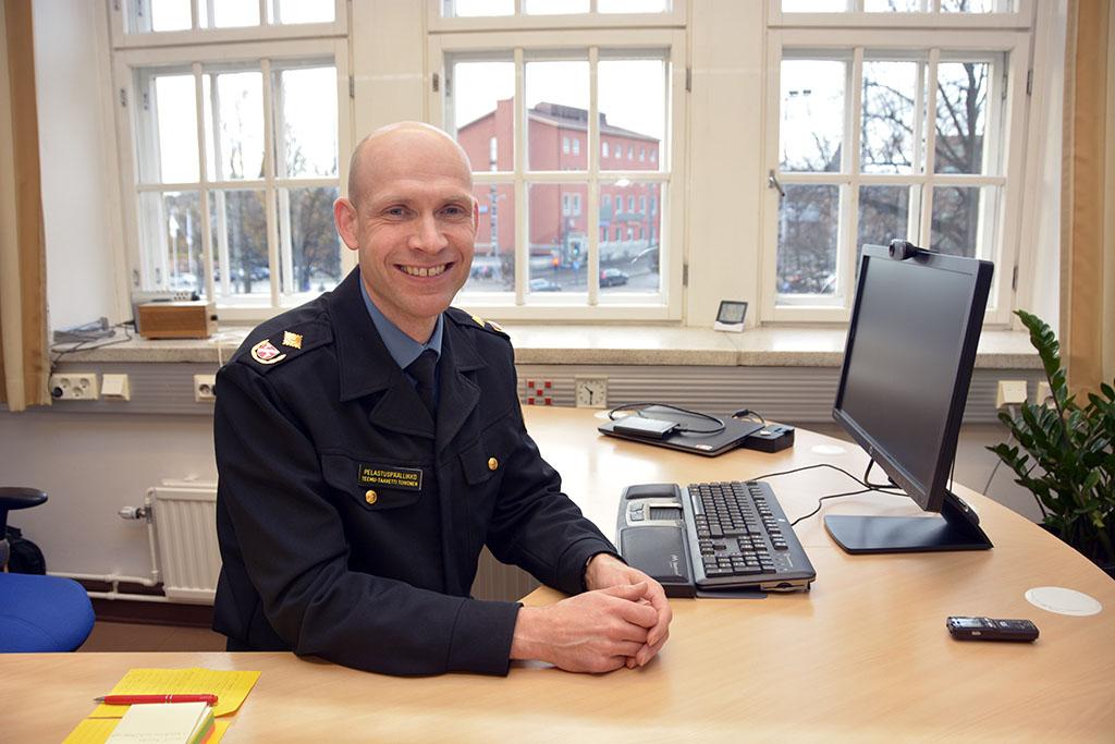 Pelastuspäällikkö Teemu Taavetti Toivonen Pirkanmaan pelastuslaitokselta uskoo kehittämiseen ja tutkimiseen.