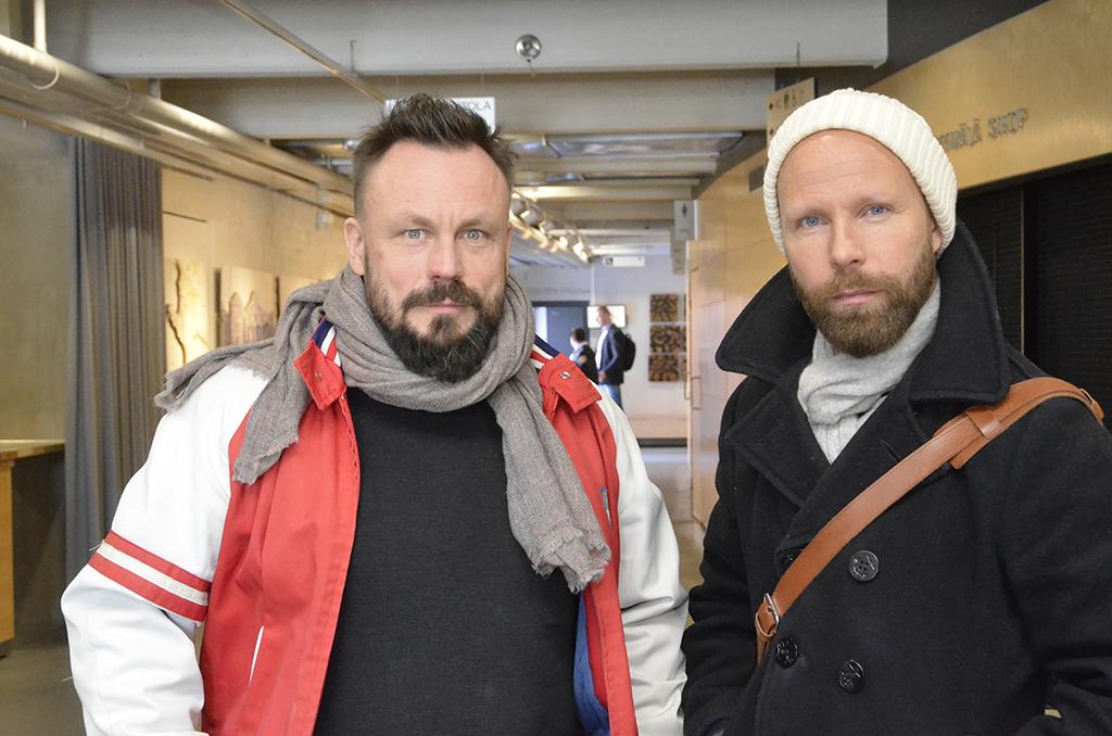 Riku Rantala ja Tuomas Milonoff vierailivat Palopäällystöpäivillä.