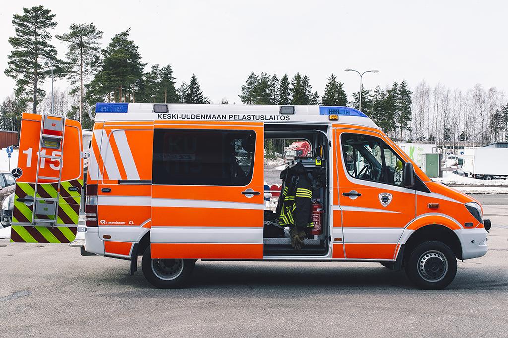 Keski-Uudenmaan pelastuslaitoksen kärkiyksikkö.