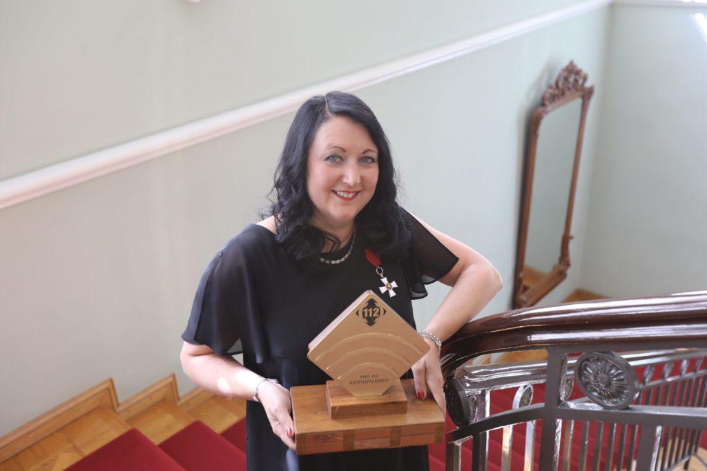 Marjukka Koskela aloitti uransa Hätäkeskuslaitoksessa viraston perustamisen jälkeen yli 16 vuotta sitten.