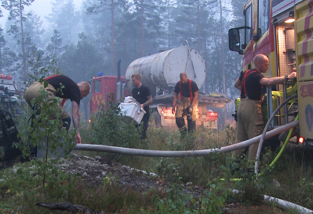 Edellinen massiivinen metsäpalo Ruotsissa riehui vuonna 2014 Västmanlandissa.  Arkistokuva: Myndigheten för samhällsskydd och beredskap (MSB).