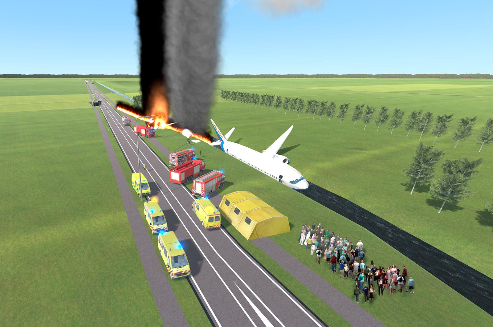 Pelastusopiston harjoituksissa on visualisoitu erilaisia onnettomuustilanteita FireStudio- ja XVR-simulaatioympäristöissä.
