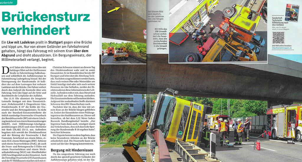 Kuvakaappaus: Feuerwehr-Magazin 11/2018.