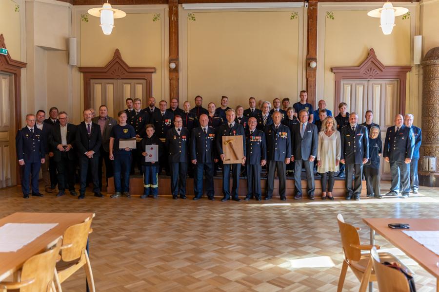 Hämeenlinnan VPK valittiin Vuoden 2020 sopimuspalokunnaksi. Kuva: Konsta Lattu
