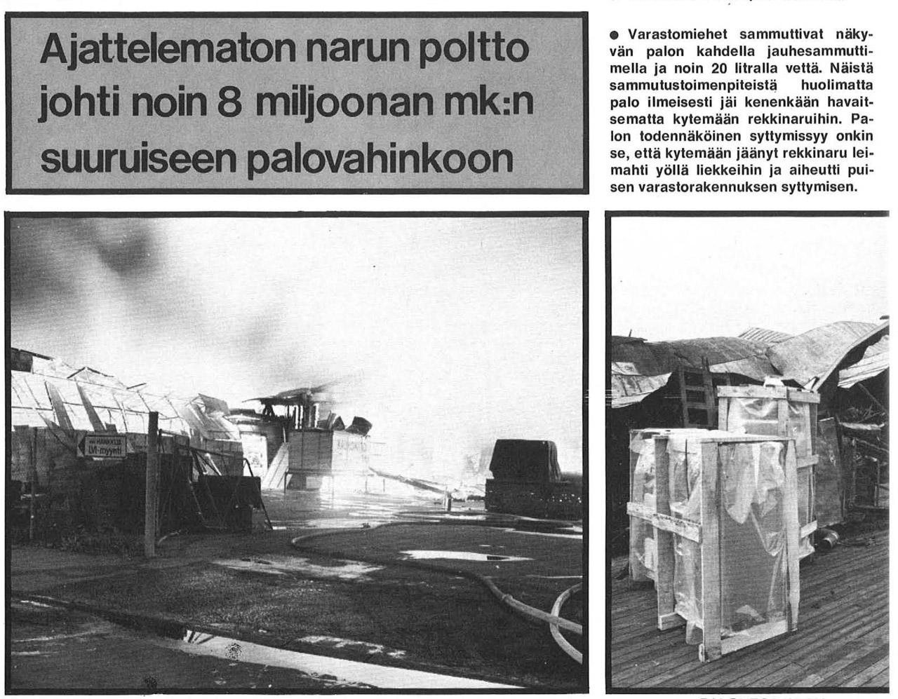 Kuvakaappaus: Palontorjunta 9/1973.