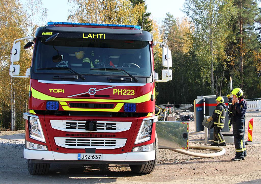 Harjoittelua Lahden Eteläisen kehätien Patomäen tunnelissa. Kuva: Salla Virta/Phpela