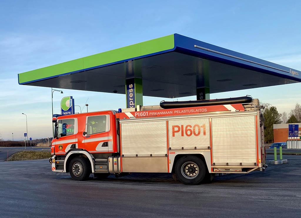 Pirkanmaan pelastuslaitoksen ajoneuvot voidaan tankata poikkeusoloissa neljällä asemalla.