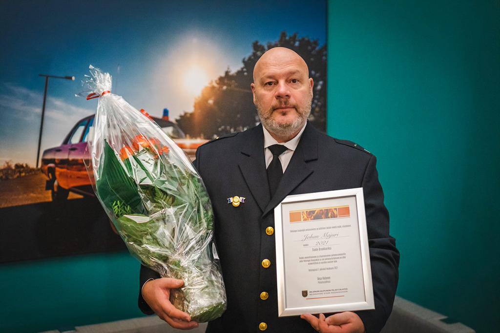 Ylipalomies Johan Majuri on pitkän linjan Stadin Brankkari, joka on uransa aikana toiminut muun muassa pelastussukeltajana 28 vuotta ja nostolavan kuljettajana jo 20 vuotta.